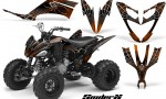Yamaha Raptor 250 CreatorX Graphics Kit SpiderX Orange 150x90 - Yamaha Raptor 250 Graphics