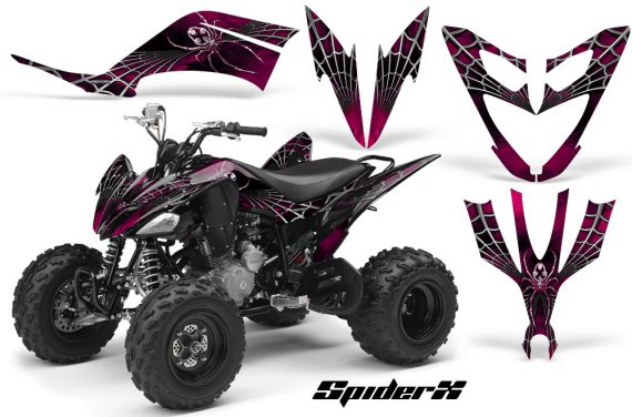 Yamaha Raptor 250 CreatorX Graphics Kit SpiderX Pink 570x376 - Yamaha Raptor 250 Graphics