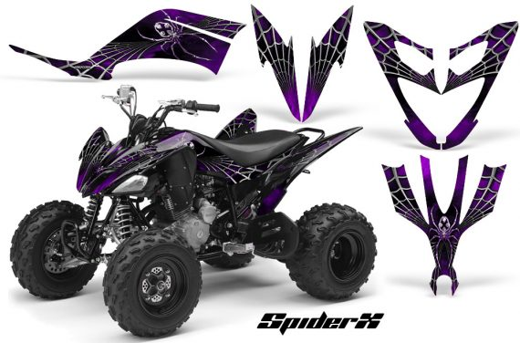 Yamaha Raptor 250 CreatorX Graphics Kit SpiderX Purple 570x376 - Yamaha Raptor 250 Graphics