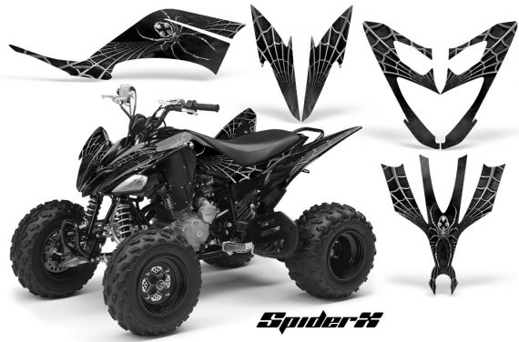 Yamaha Raptor 250 CreatorX Graphics Kit SpiderX Silver 570x376 - Yamaha Raptor 250 Graphics