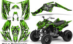 Yamaha Raptor 350 CreatorX Graphics Kit Bolt Thrower Green 150x90 - Yamaha Raptor 350 Graphics
