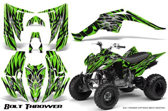 Yamaha Raptor 350 CreatorX Graphics Kit Bolt Thrower Green 570x376 - Yamaha Raptor 350 Graphics