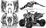 Yamaha Raptor 350 CreatorX Graphics Kit Bolt Thrower White 150x90 - Yamaha Raptor 350 Graphics