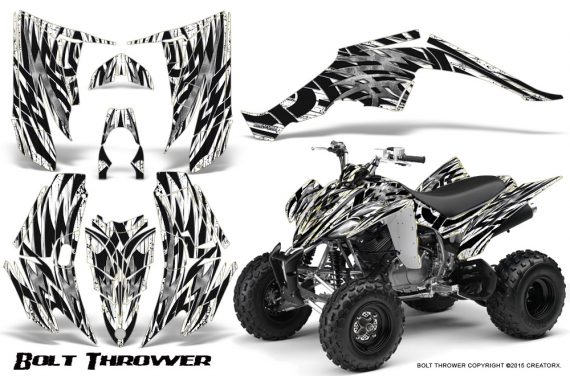 Yamaha Raptor 350 CreatorX Graphics Kit Bolt Thrower White 570x376 - Yamaha Raptor 350 Graphics