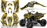 Yamaha Raptor 350 CreatorX Graphics Kit Bolt Thrower Yellow 150x90 - Yamaha Raptor 350 Graphics