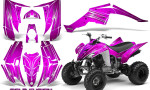 Yamaha Raptor 350 CreatorX Graphics Kit Cold Fusion Pink 150x90 - Yamaha Raptor 350 Graphics