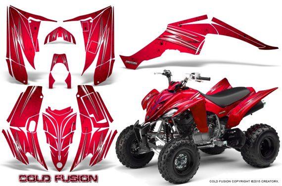 Yamaha Raptor 350 CreatorX Graphics Kit Cold Fusion Red 570x376 - Yamaha Raptor 350 Graphics