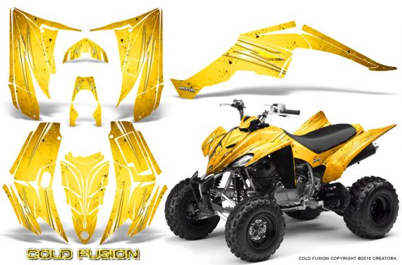 Yamaha Raptor 350 CreatorX Graphics Kit Cold Fusion Yellow 570x376 - Yamaha Raptor 350 Graphics