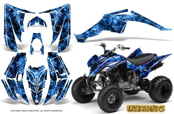 Yamaha Raptor 350 CreatorX Graphics Kit Inferno Blue 570x376 - Yamaha Raptor 350 Graphics