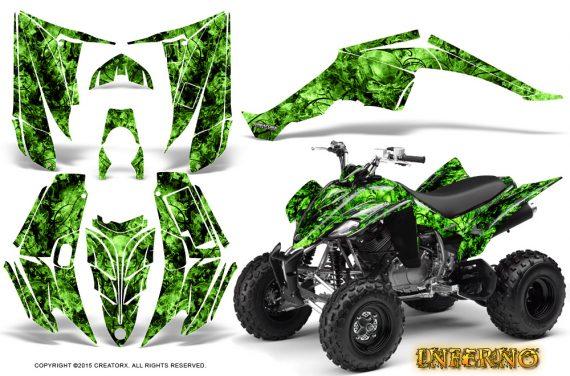 Yamaha Raptor 350 CreatorX Graphics Kit Inferno Green 570x376 - Yamaha Raptor 350 Graphics