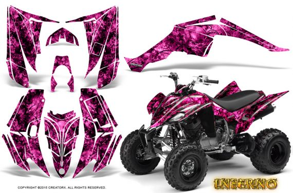 Yamaha Raptor 350 CreatorX Graphics Kit Inferno Pink 570x376 - Yamaha Raptor 350 Graphics