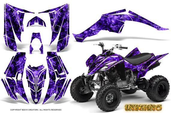 Yamaha Raptor 350 CreatorX Graphics Kit Inferno Purple 570x376 - Yamaha Raptor 350 Graphics
