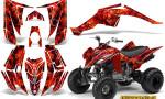 Yamaha Raptor 350 CreatorX Graphics Kit Inferno Red 150x90 - Yamaha Raptor 350 Graphics