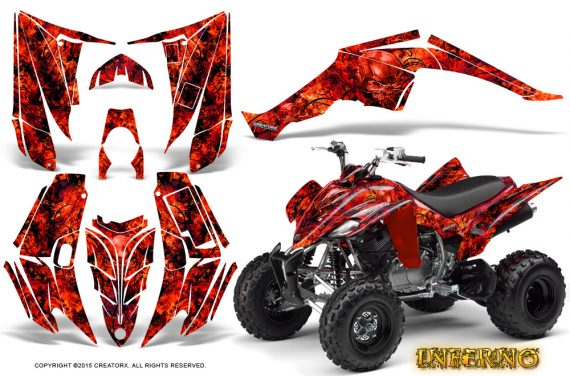 Yamaha Raptor 350 CreatorX Graphics Kit Inferno Red 570x376 - Yamaha Raptor 350 Graphics