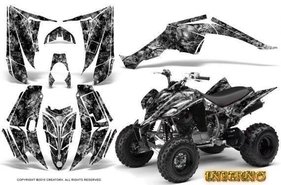 Yamaha Raptor 350 CreatorX Graphics Kit Inferno Silver 570x376 - Yamaha Raptor 350 Graphics