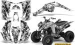 Yamaha Raptor 350 CreatorX Graphics Kit Inferno White 150x90 - Yamaha Raptor 350 Graphics