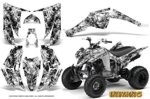 Yamaha Raptor 350 CreatorX Graphics Kit Inferno White 570x376 - Yamaha Raptor 350 Graphics