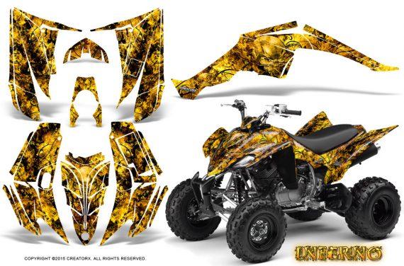 Yamaha Raptor 350 CreatorX Graphics Kit Inferno Yellow 570x376 - Yamaha Raptor 350 Graphics
