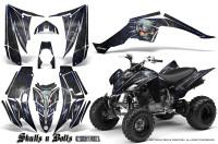 Yamaha-Raptor-350-CreatorX-Graphics-Kit-Skulls-Bolts-Metal-Blue-Black