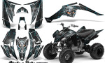 Yamaha Raptor 350 CreatorX Graphics Kit Skulls Bolts Metal BlueIce Black 150x90 - Yamaha Raptor 350 Graphics