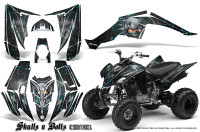 Yamaha-Raptor-350-CreatorX-Graphics-Kit-Skulls-Bolts-Metal-BlueIce-Black