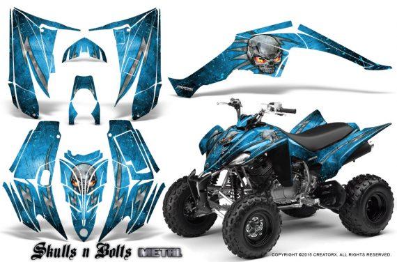 Yamaha Raptor 350 CreatorX Graphics Kit Skulls Bolts Metal BlueIce BlueIce 570x376 - Yamaha Raptor 350 Graphics