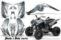 Yamaha-Raptor-350-CreatorX-Graphics-Kit-Skulls-Bolts-Metal-BlueIce-White
