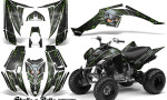 Yamaha Raptor 350 CreatorX Graphics Kit Skulls Bolts Metal Green Black 150x90 - Yamaha Raptor 350 Graphics