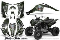 Yamaha-Raptor-350-CreatorX-Graphics-Kit-Skulls-Bolts-Metal-Green-Black