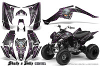 Yamaha-Raptor-350-CreatorX-Graphics-Kit-Skulls-Bolts-Metal-Pink-Black