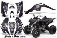 Yamaha-Raptor-350-CreatorX-Graphics-Kit-Skulls-Bolts-Metal-Purple-Black
