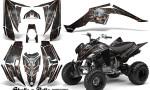 Yamaha Raptor 350 CreatorX Graphics Kit Skulls Bolts Metal Red Black 150x90 - Yamaha Raptor 350 Graphics