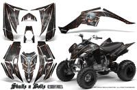 Yamaha-Raptor-350-CreatorX-Graphics-Kit-Skulls-Bolts-Metal-Red-Black