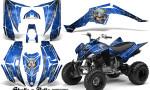 Yamaha Raptor 350 CreatorX Graphics Kit Skulls Bolts Metal White Blue 150x90 - Yamaha Raptor 350 Graphics