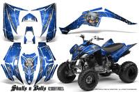 Yamaha-Raptor-350-CreatorX-Graphics-Kit-Skulls-Bolts-Metal-White-Blue