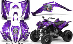 Yamaha Raptor 350 CreatorX Graphics Kit Skulls Bolts Metal White Purple 150x90 - Yamaha Raptor 350 Graphics