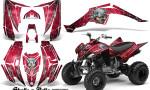 Yamaha Raptor 350 CreatorX Graphics Kit Skulls Bolts Metal White Red 150x90 - Yamaha Raptor 350 Graphics