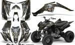 Yamaha Raptor 350 CreatorX Graphics Kit Skulls Bolts Metal Yellow Black 150x90 - Yamaha Raptor 350 Graphics