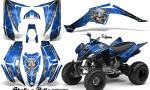 Yamaha Raptor 350 CreatorX Graphics Kit Skulls Bolts Metal Yellow Blue 150x90 - Yamaha Raptor 350 Graphics