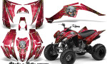 Yamaha Raptor 350 CreatorX Graphics Kit Skulls Bolts Metal Yellow Red 150x90 - Yamaha Raptor 350 Graphics