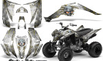 Yamaha Raptor 350 CreatorX Graphics Kit Skulls Bolts Metal Yellow White 150x90 - Yamaha Raptor 350 Graphics