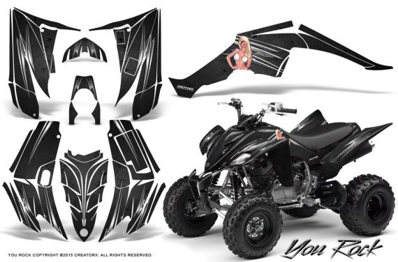 Yamaha Raptor 350 CreatorX Graphics Kit You Rock Black 570x376 - Yamaha Raptor 350 Graphics