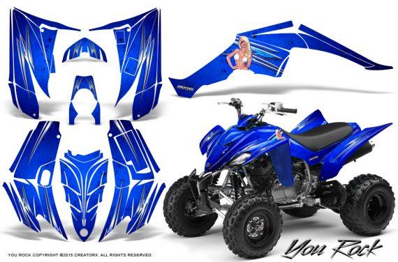 Yamaha Raptor 350 CreatorX Graphics Kit You Rock Blue 570x376 - Yamaha Raptor 350 Graphics