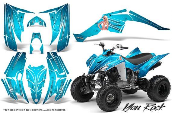 Yamaha Raptor 350 CreatorX Graphics Kit You Rock BlueIce 570x376 - Yamaha Raptor 350 Graphics