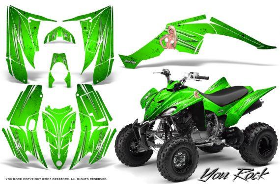Yamaha Raptor 350 CreatorX Graphics Kit You Rock Green 570x376 - Yamaha Raptor 350 Graphics