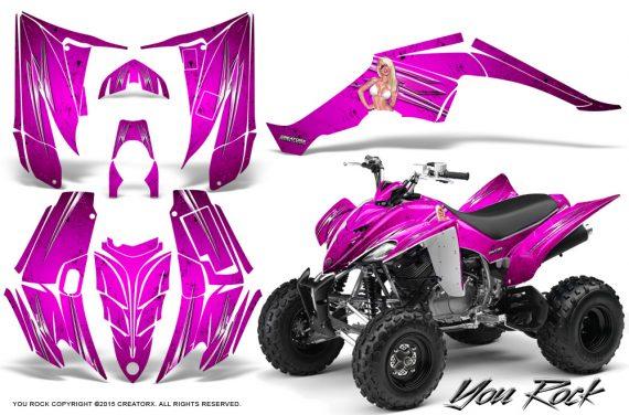 Yamaha Raptor 350 CreatorX Graphics Kit You Rock Pink 570x376 - Yamaha Raptor 350 Graphics