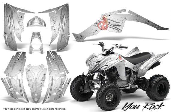 Yamaha Raptor 350 CreatorX Graphics Kit You Rock White 570x376 - Yamaha Raptor 350 Graphics