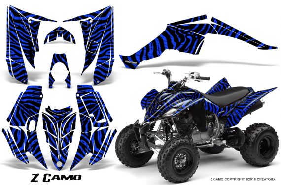 Yamaha Raptor 350 CreatorX Graphics Kit ZCamo Blue 570x376 - Yamaha Raptor 350 Graphics