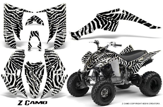 Yamaha Raptor 350 CreatorX Graphics Kit ZCamo White 570x376 - Yamaha Raptor 350 Graphics