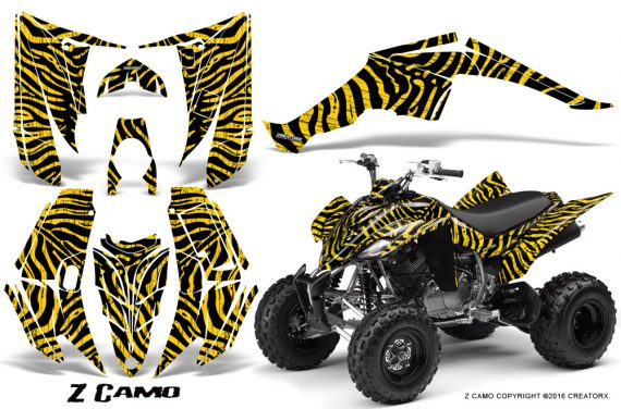 Yamaha Raptor 350 CreatorX Graphics Kit ZCamo Yellow 570x376 - Yamaha Raptor 350 Graphics